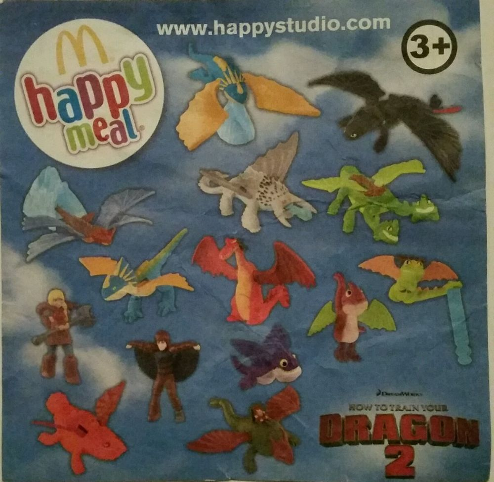Mcdonalds Happy Meal Toys How To Train Your Dragon 2 2014 Part Set 5 14 Bnip Ebay