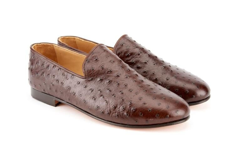 399b06b35b Men s Ostrich Leather Loafers from Res Ipsa are 100% real Ostrich Leather.