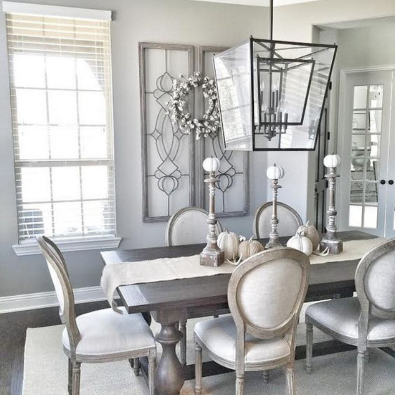 What S Hot On Pinterest What You Need For A Grey Dining Room