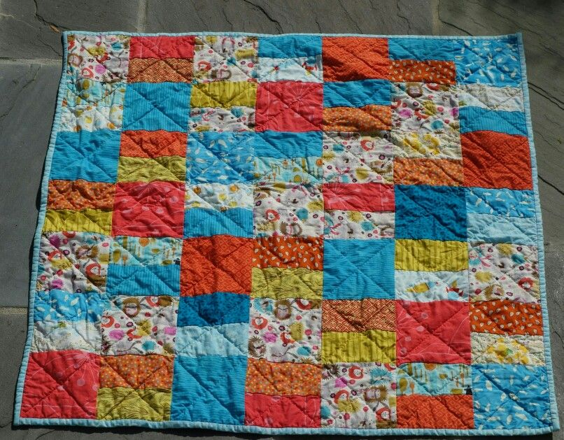 Bold baby quilt