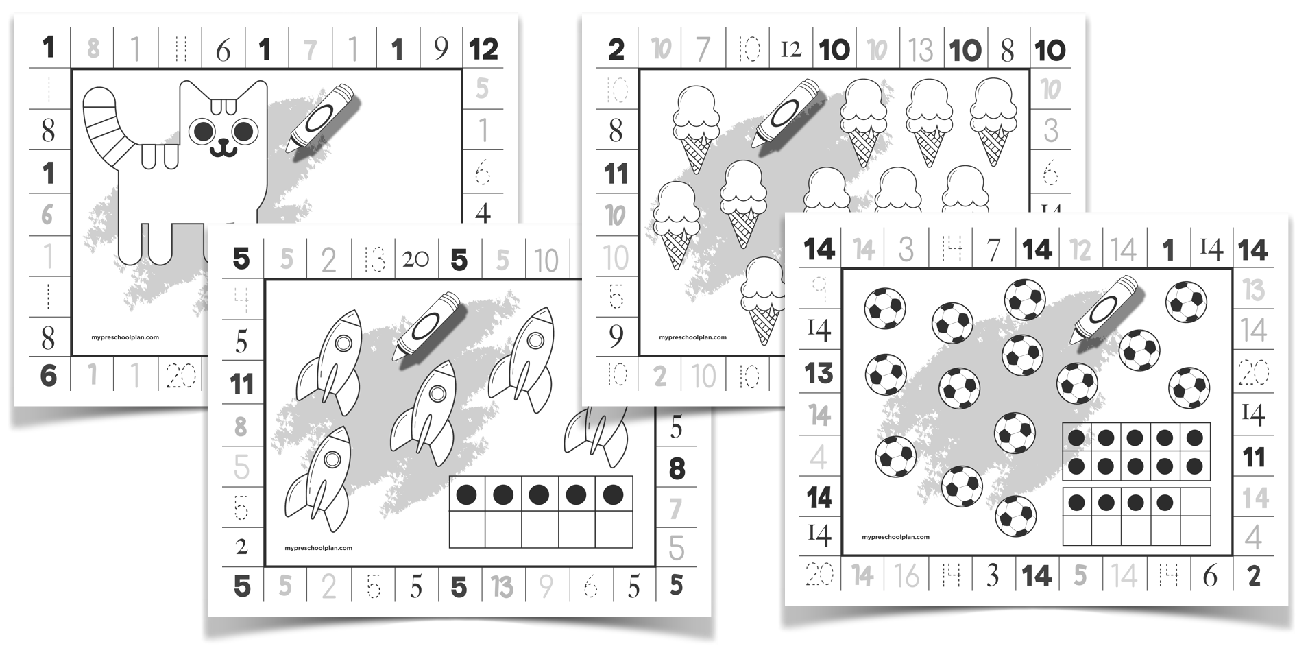 Numbers Print And Punch Worksheets