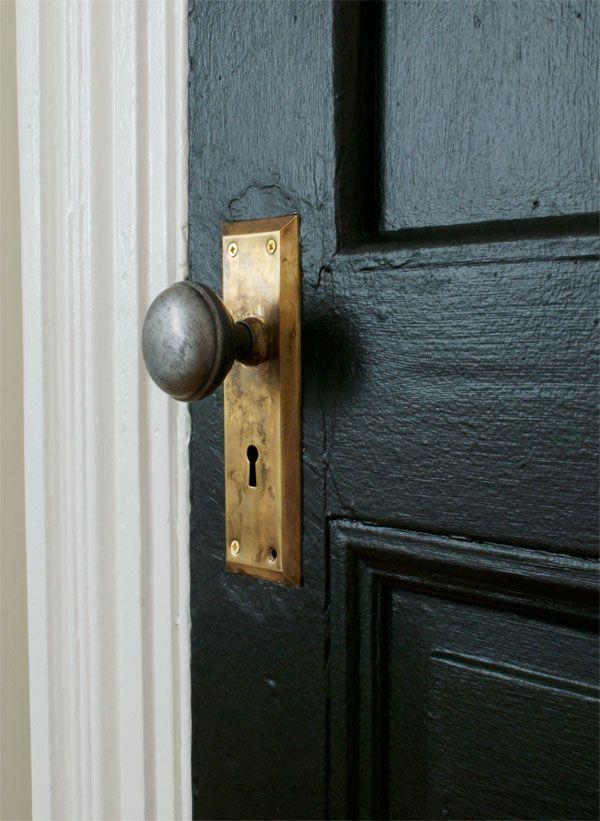 Black Door - Brass Doorknob - Manhattan Nest - Inspired By} Unique Doorknobs The Inspired Room Pinterest