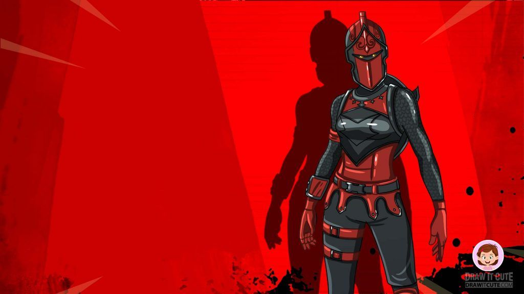 Red Knight Skin Fortnite Desktop Wallpaper By Draw It Cute Red Knight Fortnite Red Knight Drawing Tutorial