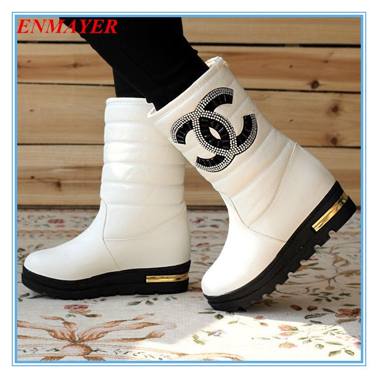 Cheap Boots, Buy Directly from China Suppliers:        ENMAYER new 2015 autumn boots spring women boots, Artificial high heel Platform lace up ankle boots girls s