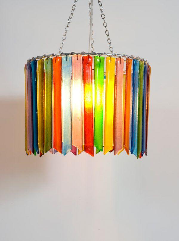 Rainbow Rhapsody double chandelier lampshade