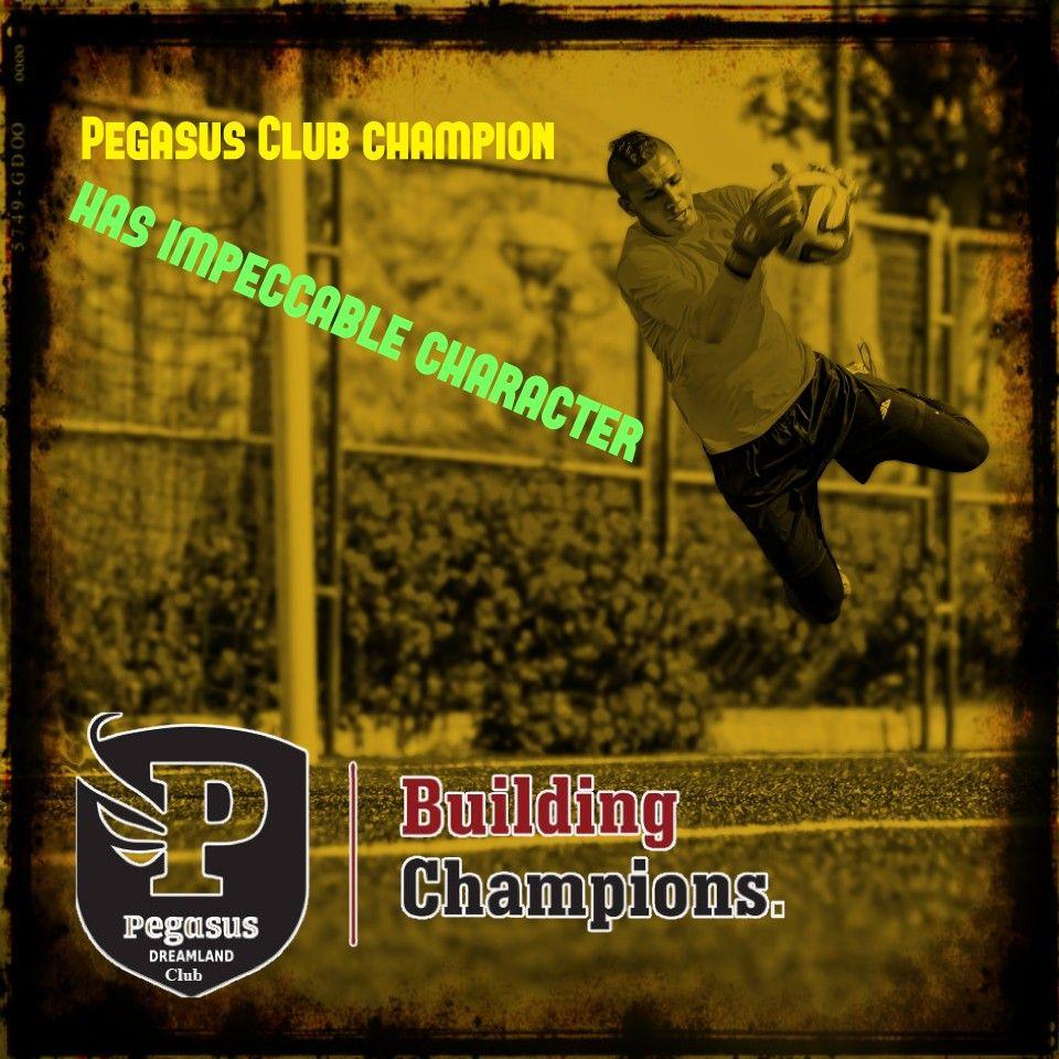 Enjoy one of our Academy.... Pegasus Club Champion