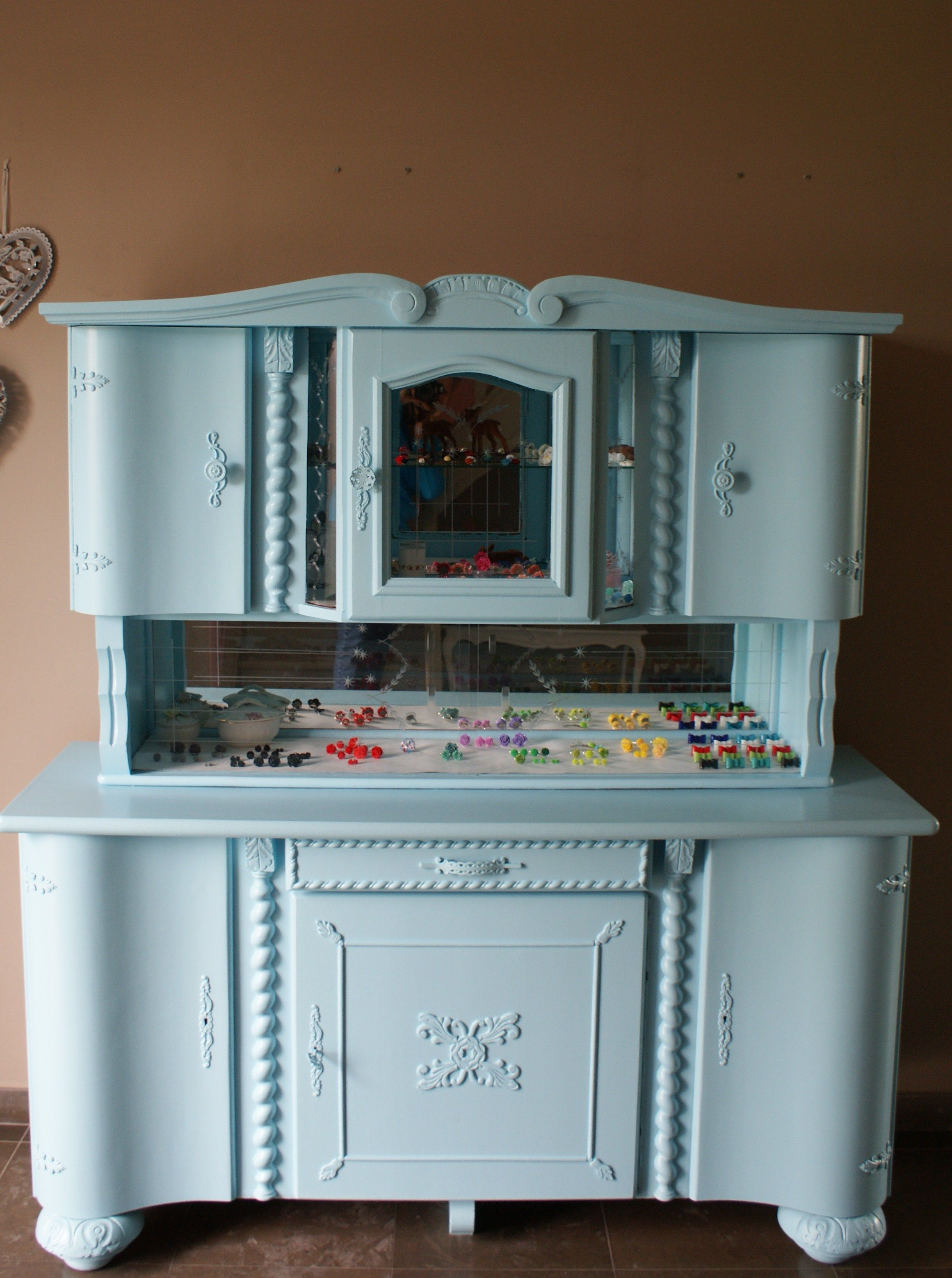 I Found This Vintage Closet In A Second Hand Store And Painted It In Pale  Blue. I Use It As Storage For My Hand Made Jewels.