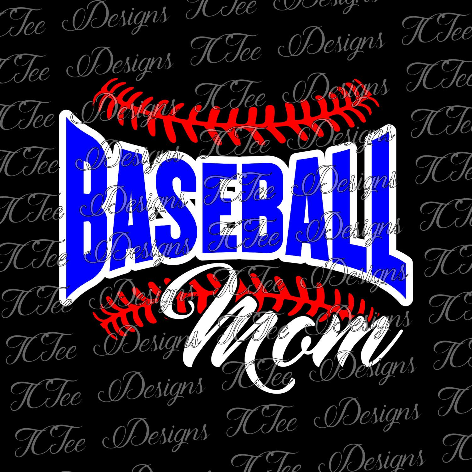 Baseball Mom SVG Download by TCTeeDesigns on Etsy Tee