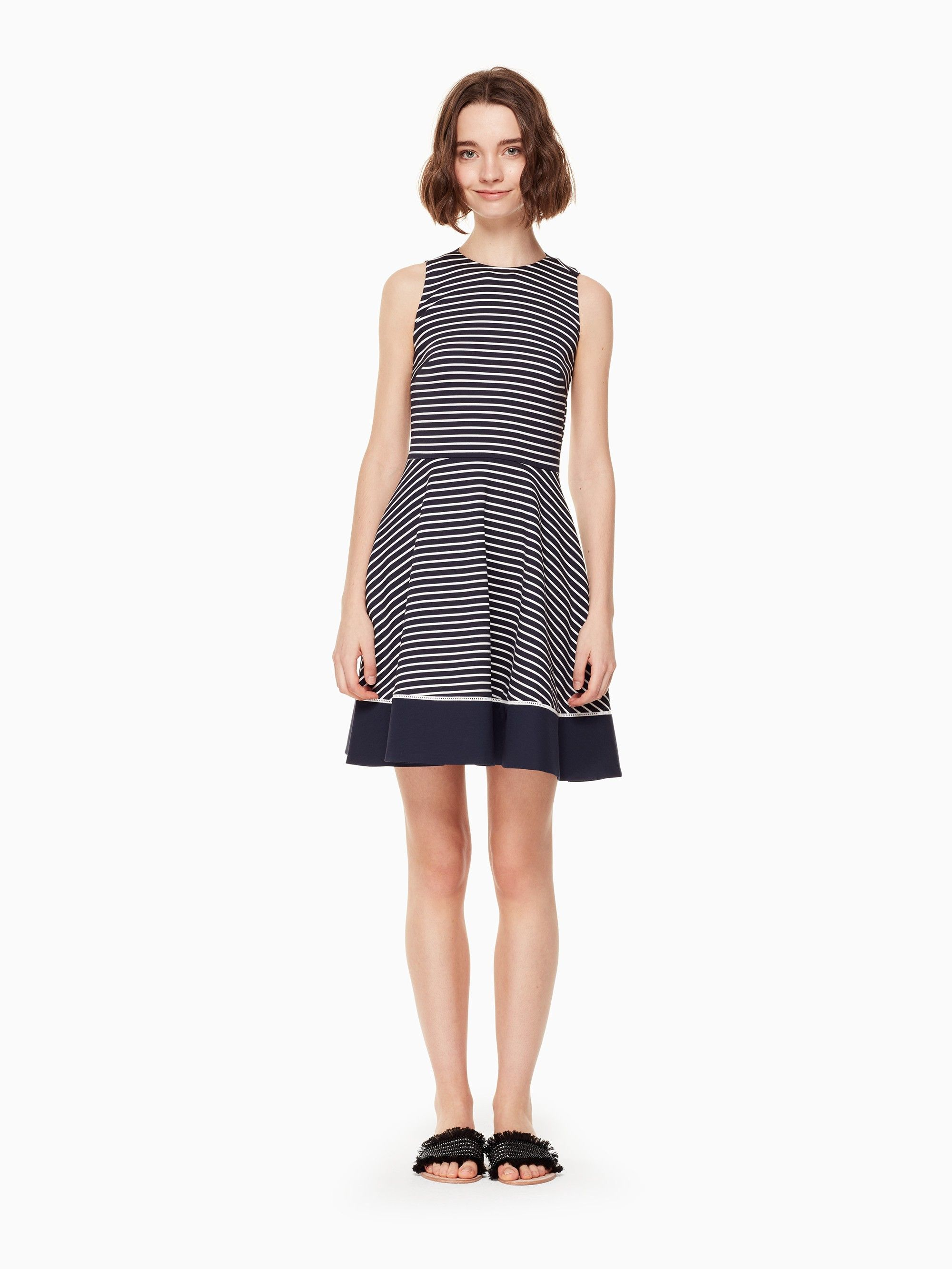 Kate spade stripe ponte dress products pinterest products