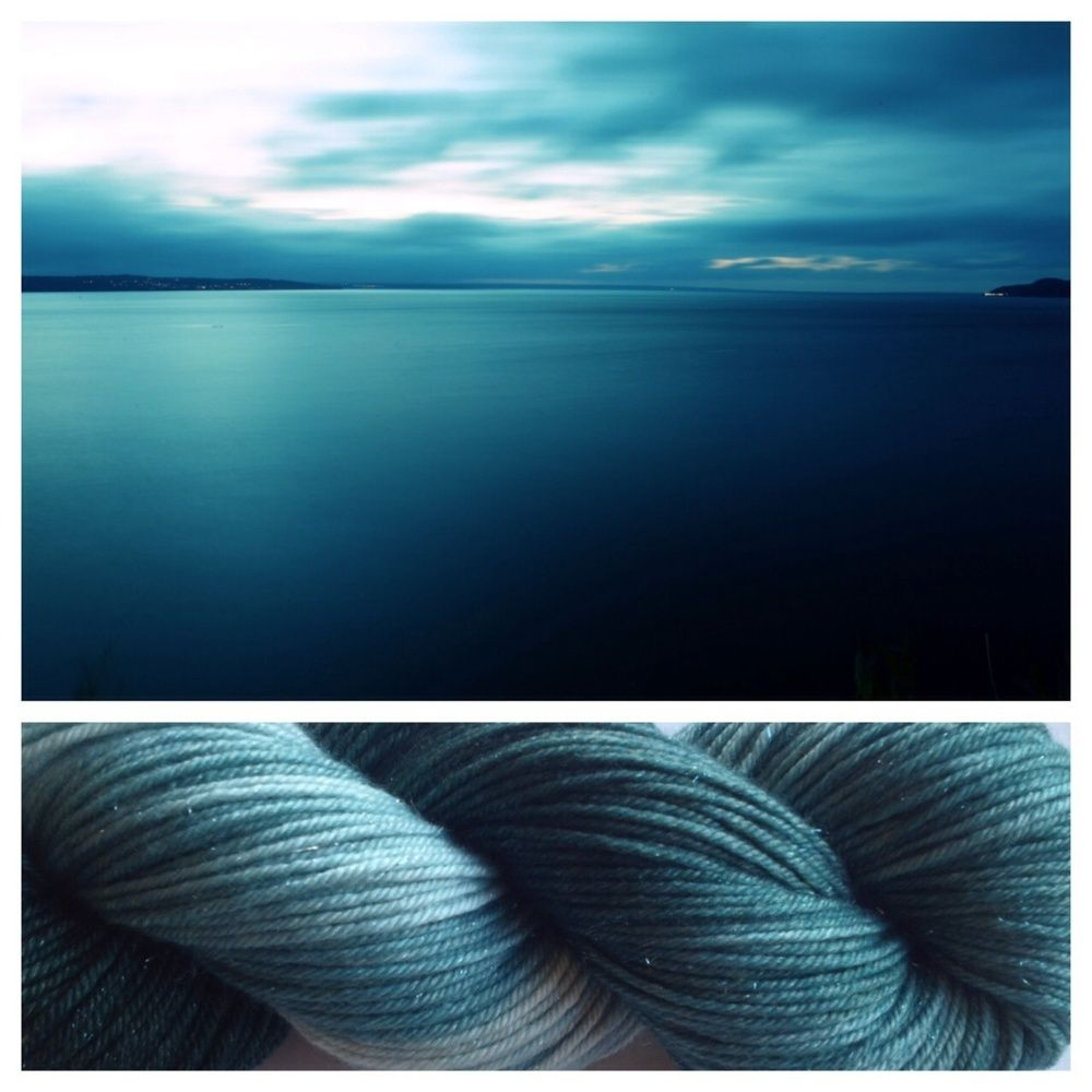 ~Only 1 leftTeal ombré dyed skein with subtle sparkles - what's not to love