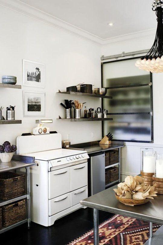 Diseño de cocina sin muebles altos | Cocinas Sin Muebles ...