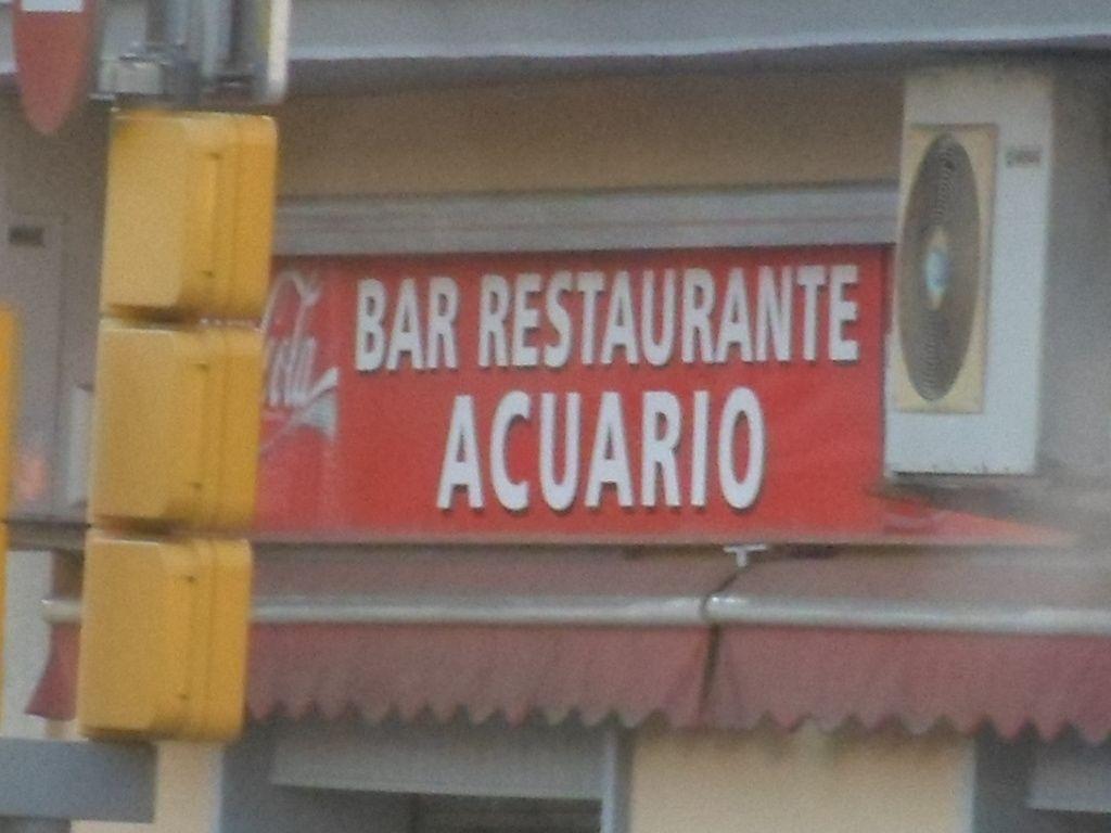 Bar Restaurante de Barcelona ACUARIO, constelación.