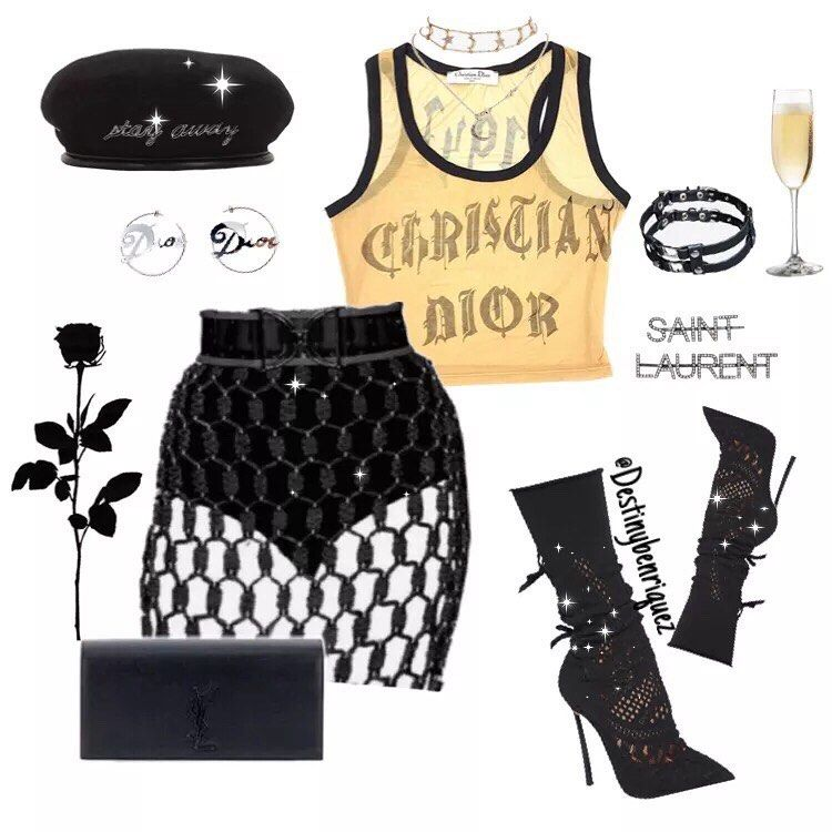 This Fit Is Giving Me Chanel Perfume Vibes Dont Forget To Submit Style Requests Street Girly Grunge And Mo Girly Fashion Fashion Outfits Fancy Outfits