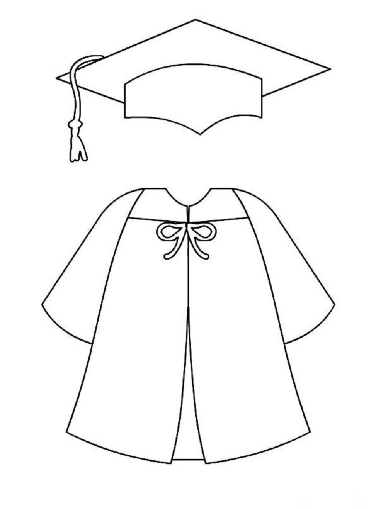 Graduation Cap Gown Coloring Pages Graduation Cap And Gown Graduation Crafts Graduation Cap