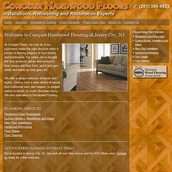 Website redesign project for Jersey City, NJ flooring contractor - home building cost estimate spreadsheet