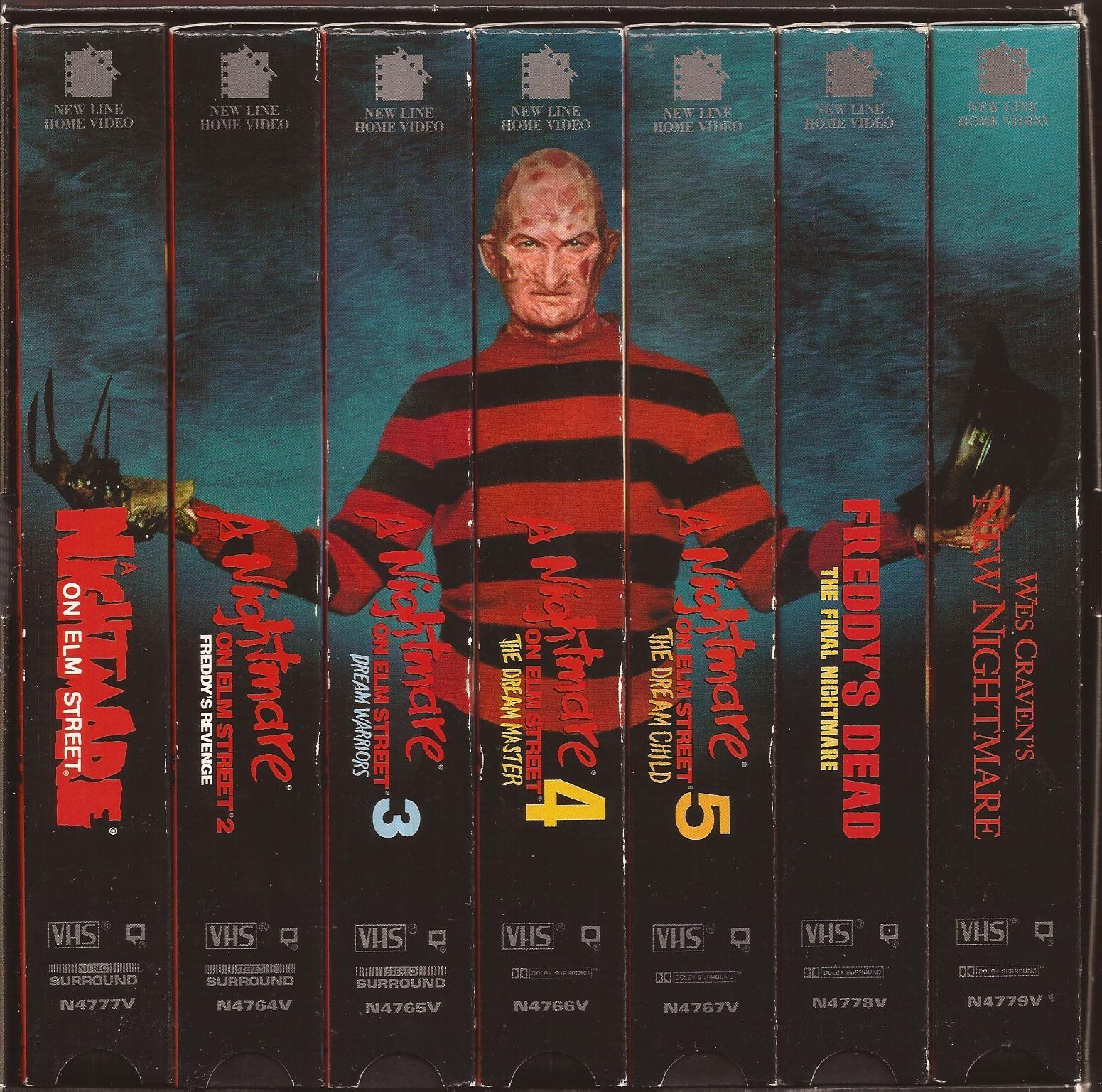Halloween Dvd Box Set.A Nightmare On Elm Street Vhs Box Set A Nightmare On Elm Street