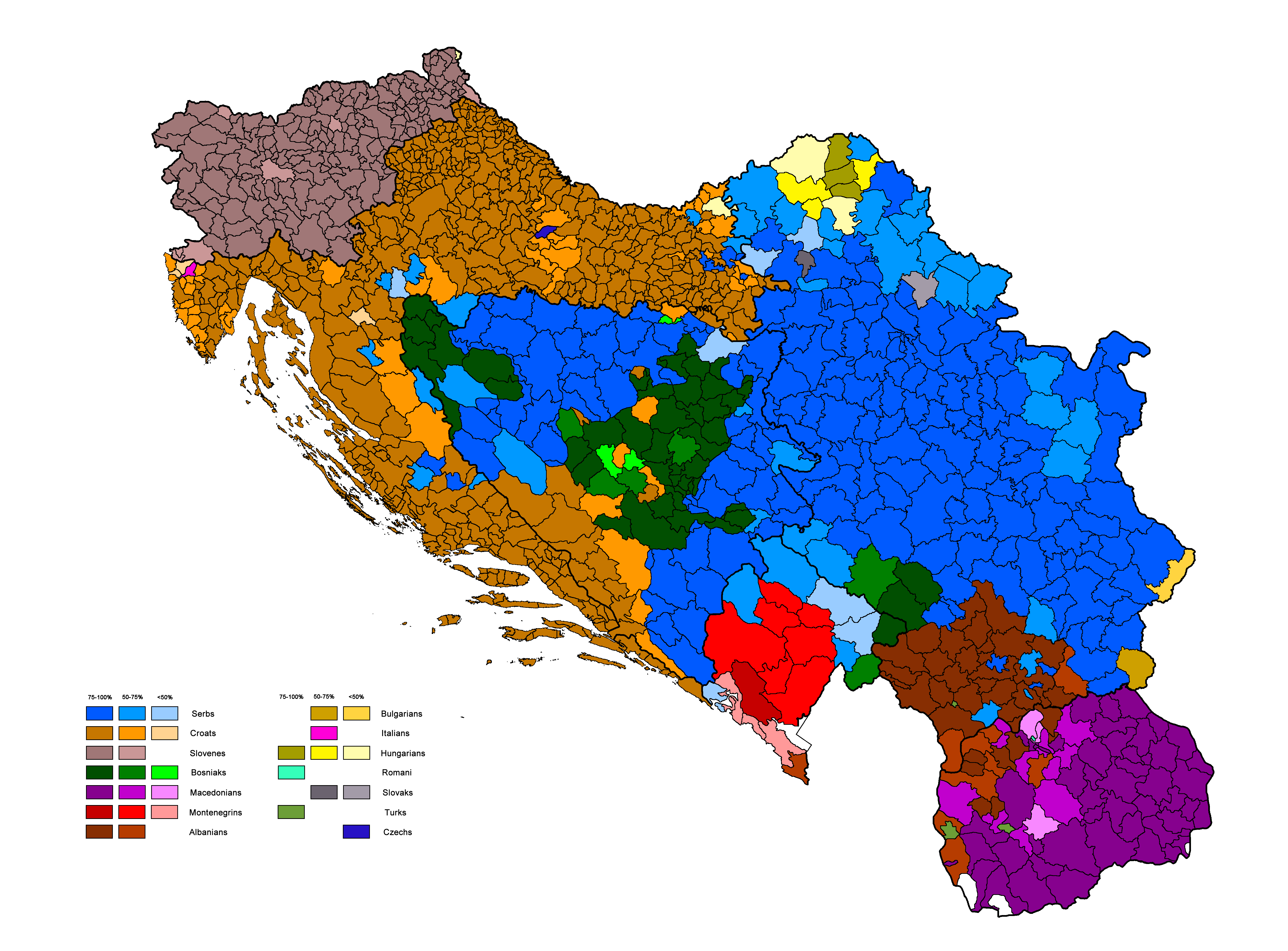 Ethnic Map of the Former Yugoslavia | MAPS | Map, Historical maps ...