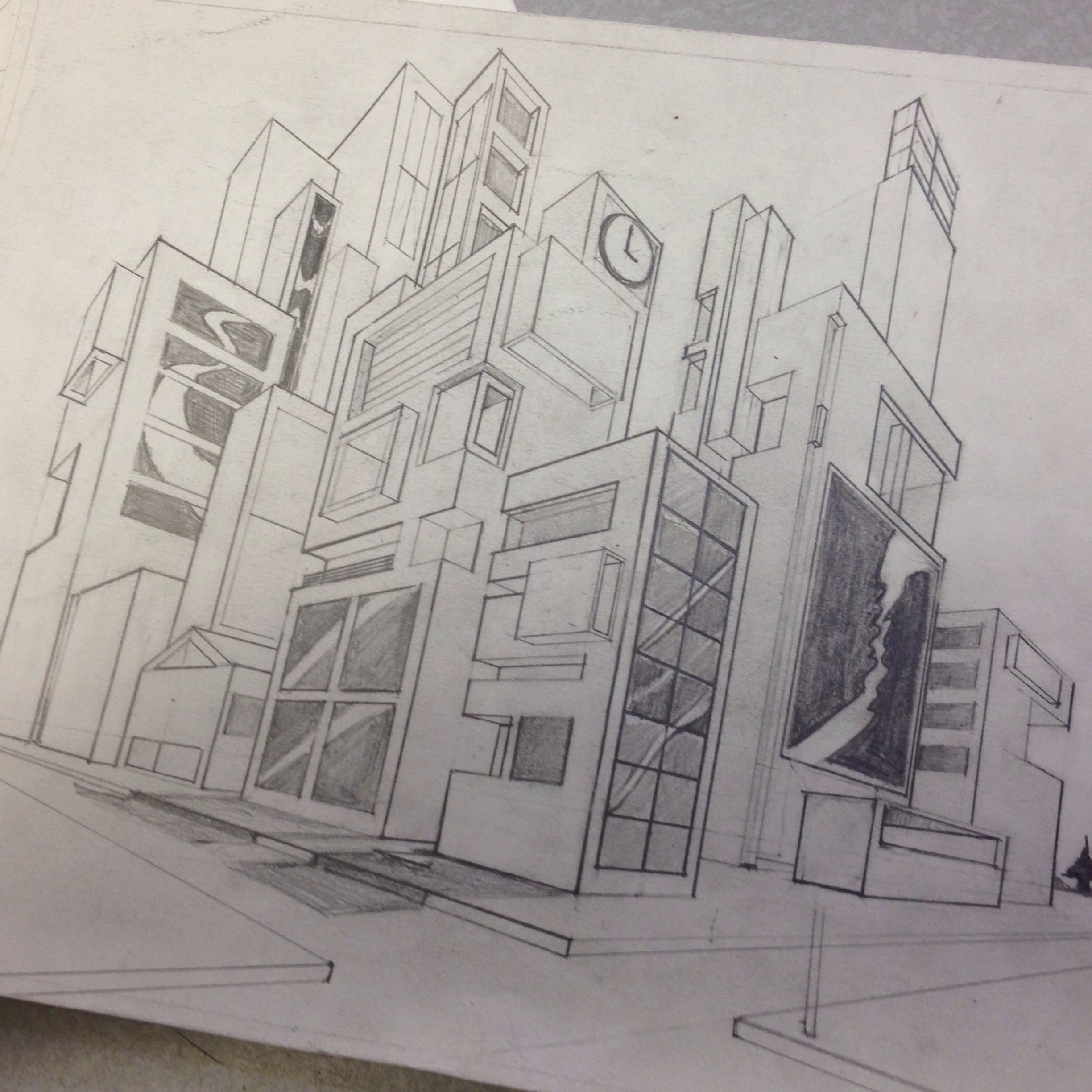 2 Point Perspective Assignment For The Students