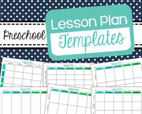 Free Preschool Lesson Plan Templates Homeschooling Pinterest