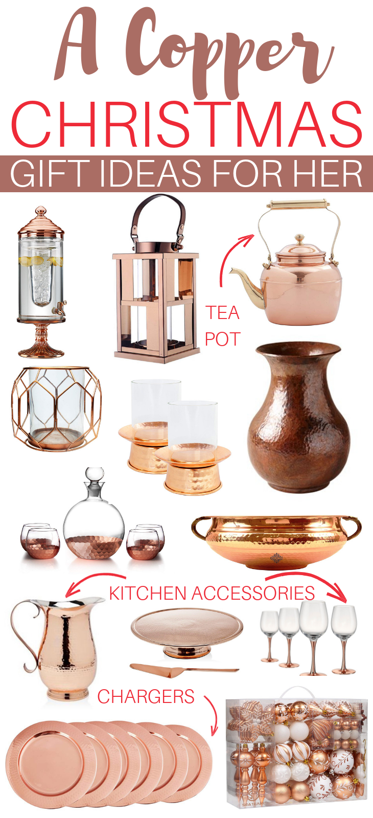 a copper christmas: gift ideas for her | top blogs - pinterest viral