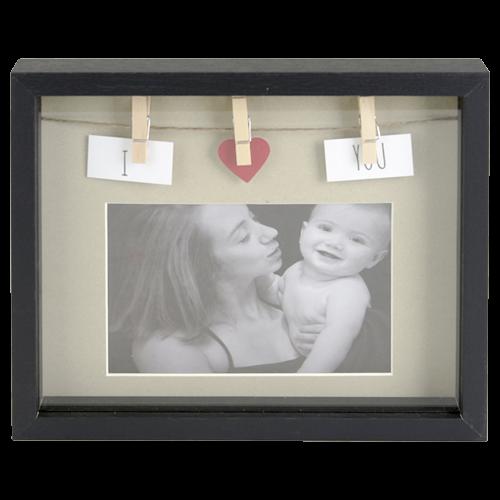 cadre photo clips 23x19cm blanc noir 100 derniers articles action france magasins. Black Bedroom Furniture Sets. Home Design Ideas