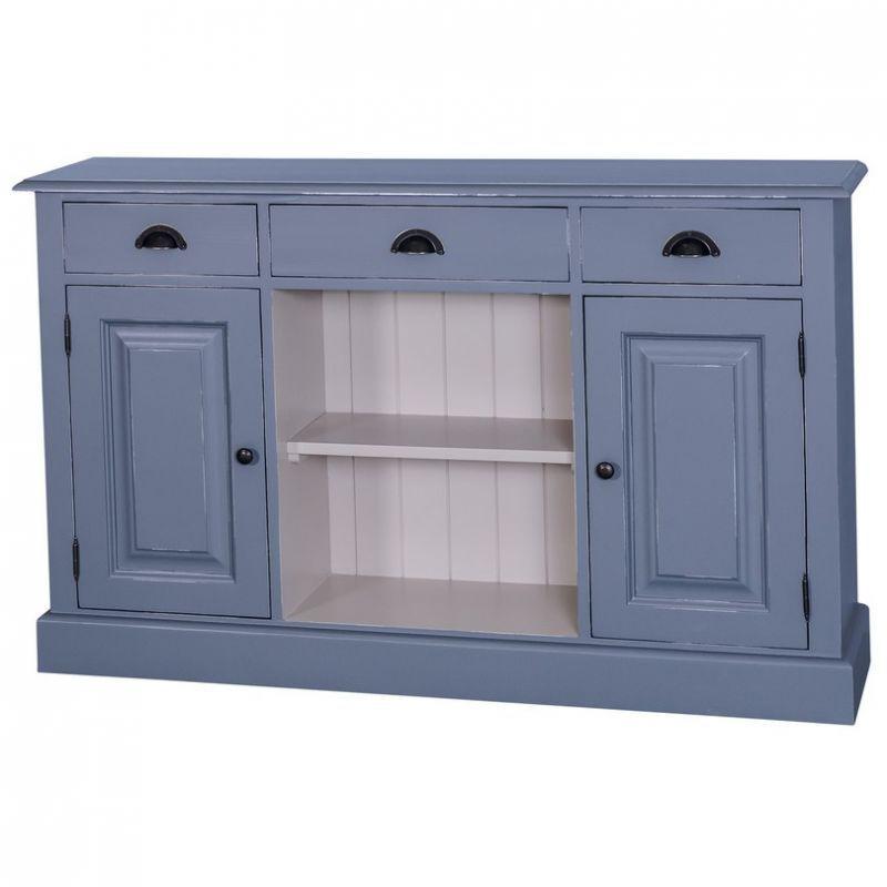 Landhaus Sideboard in vintage blau, Esszimmer, Landhausmöbel - esszimmer buffet