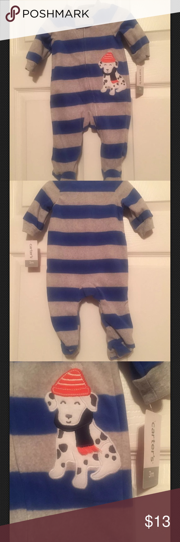 baf7884c8ae8 Carter s Baby Pajamas 3 Months Blue Gray