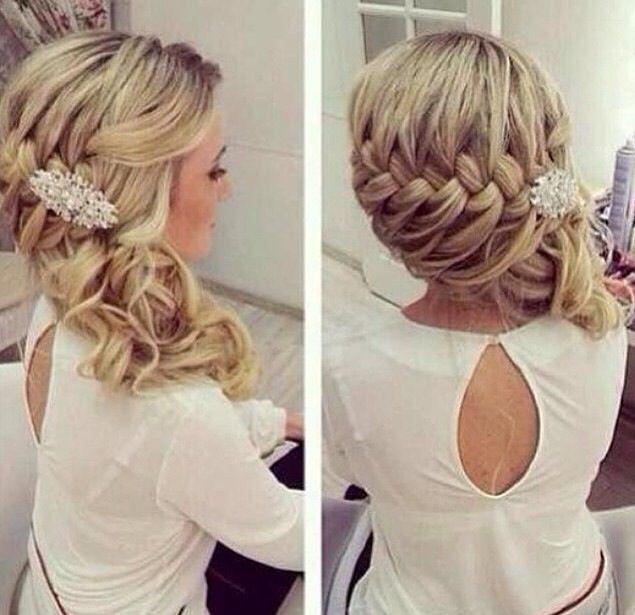 Side Braid With Curls Glamorous Wedding Hair Hair Styles Long Hair Styles
