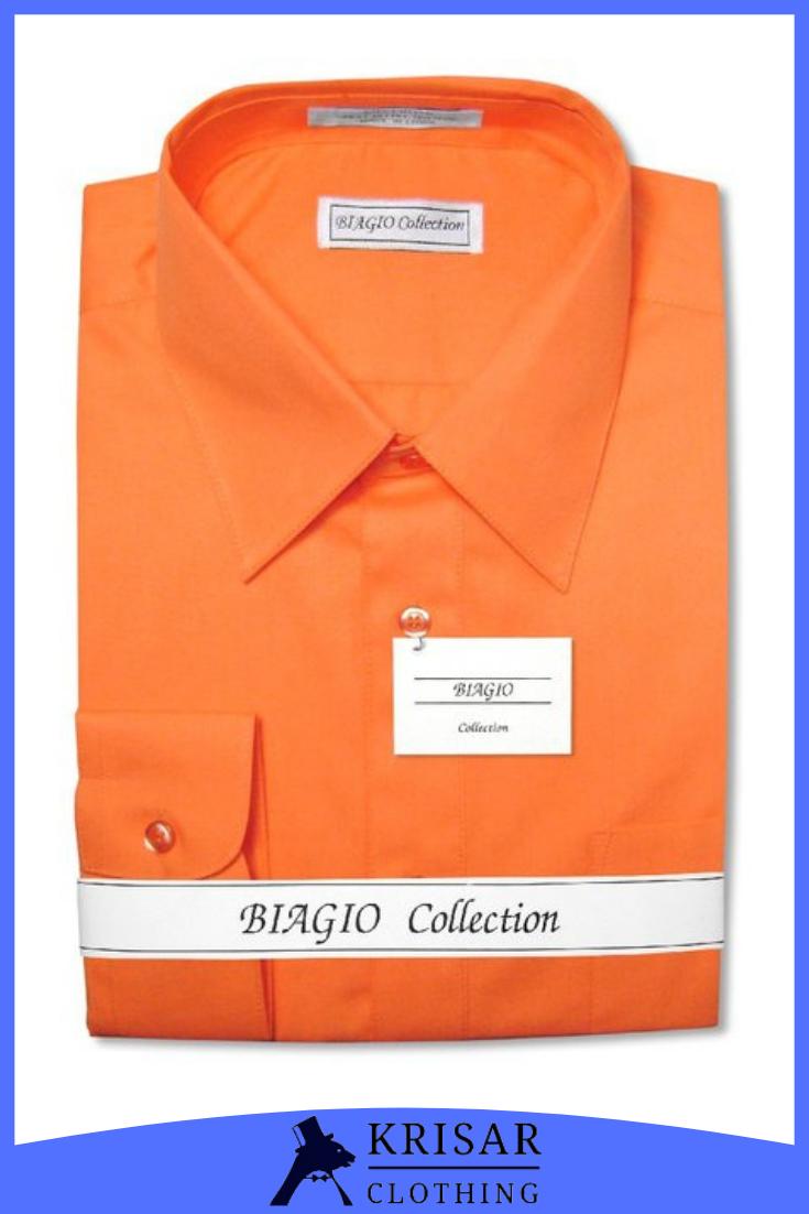 Biagio Men S 100 Cotton Solid Burnt Orange Dress Shirt W Convertible Cuffs Burnt Orange Dress Shirt Orange Dress Shirt Burnt Orange Dress [ 1102 x 735 Pixel ]