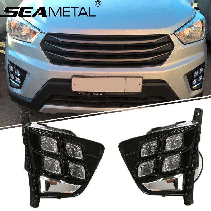 Fog lights For Hyundai Creta IX25 2015 2016 2017 Car DRL LED