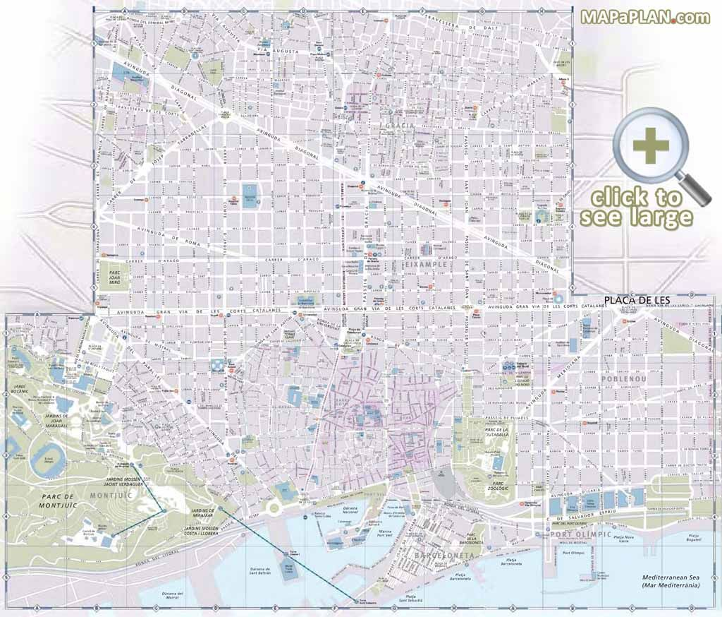 Interesting places to visit detailed street highlights plan ...