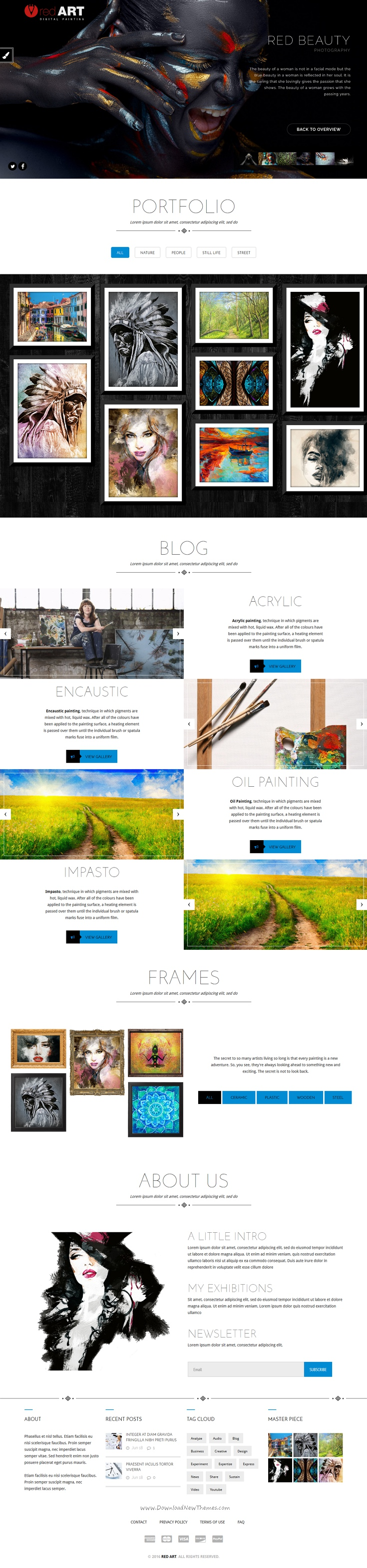 RedArt Responsive #WordPress #theme is great for any portfolio, #Photography, personal or creative #presentation website.. Download Now!