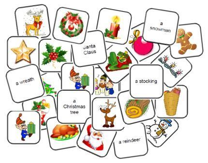 Travailler sur la f te de no l en anglais aux cycles 2 et 3 flashcards english english games - Christmas cycle 3 ...