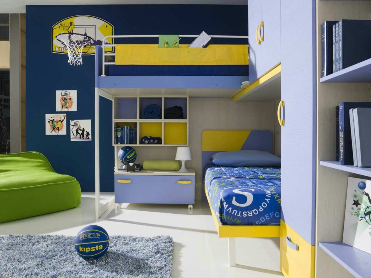 Peinture chambre enfant en 17 idées colorées  Deco chambre garcon