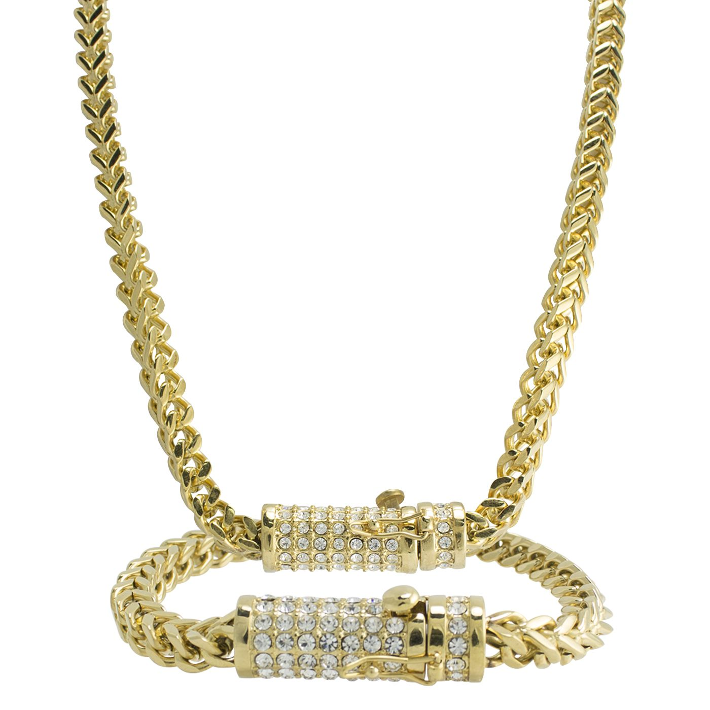 Gold pvd franco set aabstyle jewelry necklaces bracelets