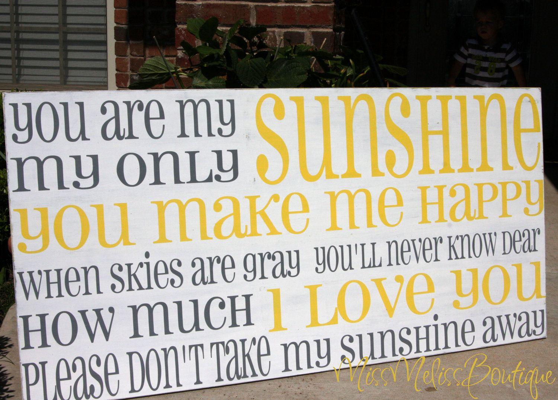 LG You are my sunshine -Horizontal-cottage style subway art - large ...