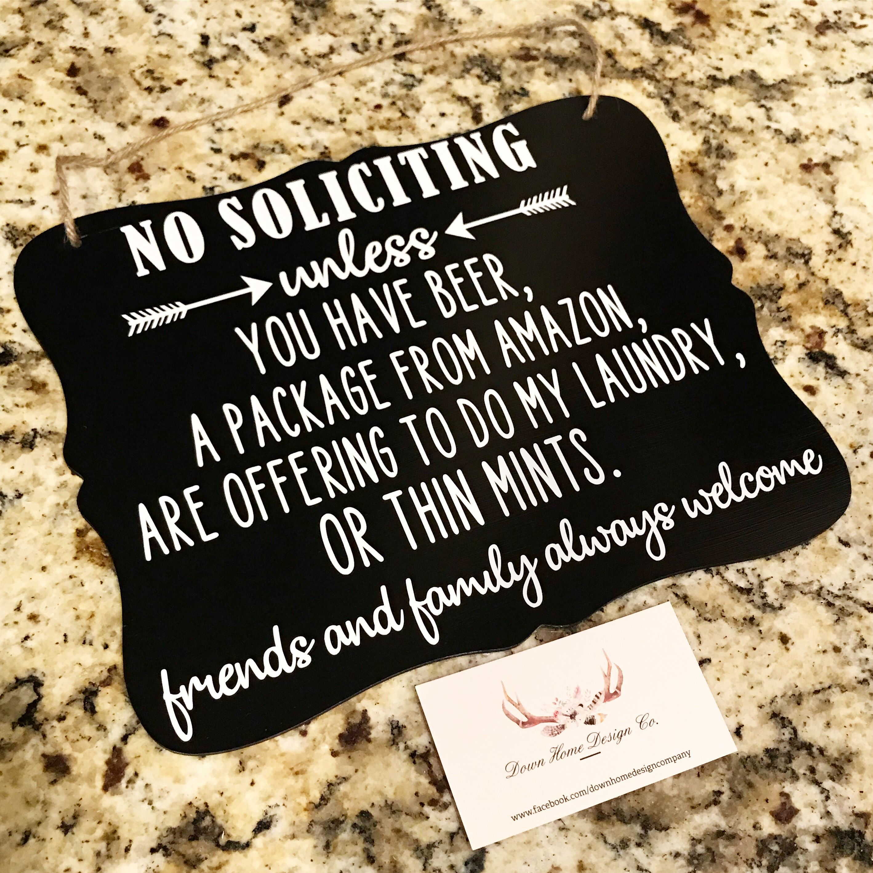 Cute No Soliciting Sign #nosolicitingsignfunny No soliciting sign by @downhomedesignco #sign #homedecor #nosoliciting #funny #homeinspo #decor #home #nosolicitingsignfunny