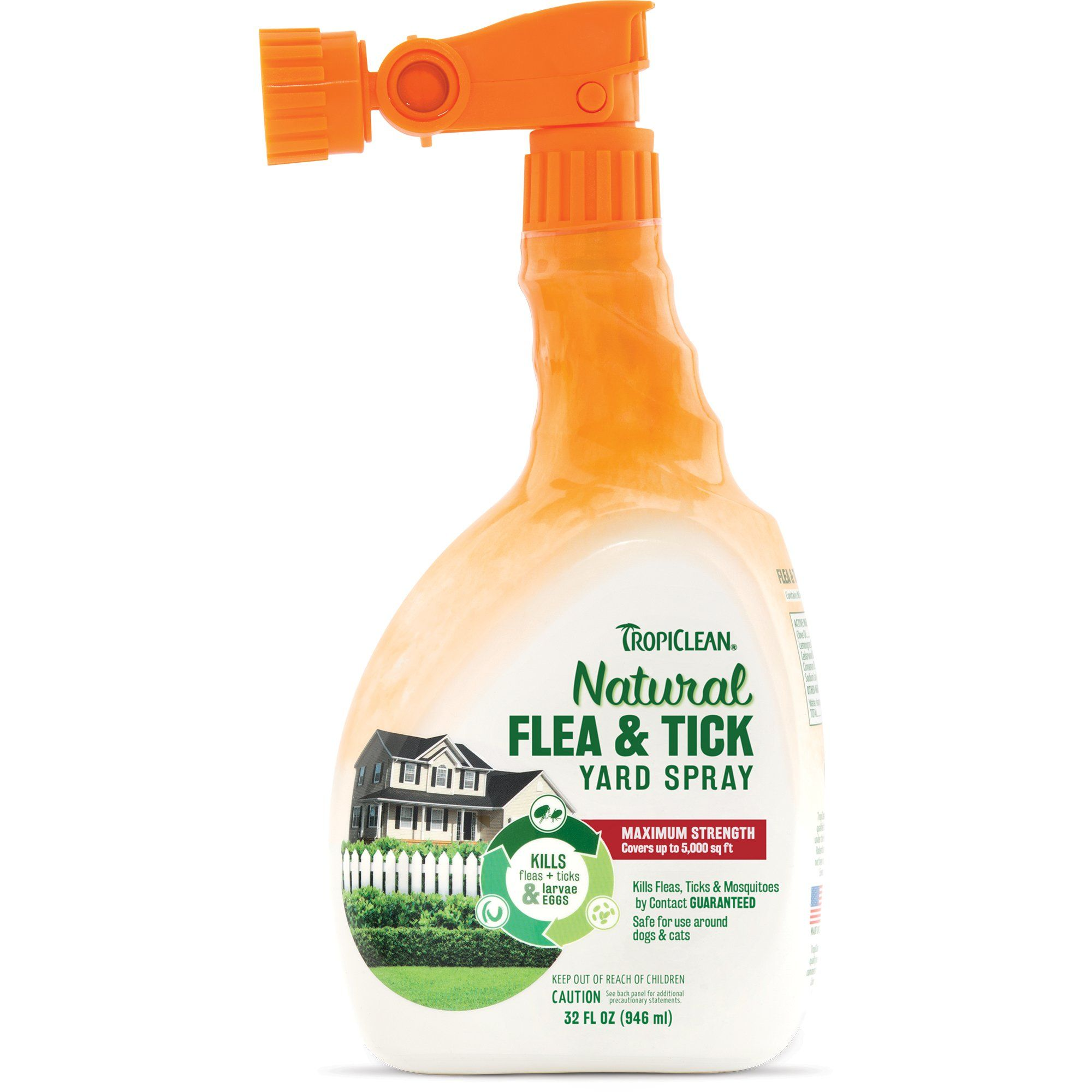 Tropiclean Natural Flea Tick Yard Spray 32 Fl Oz 32 Fz