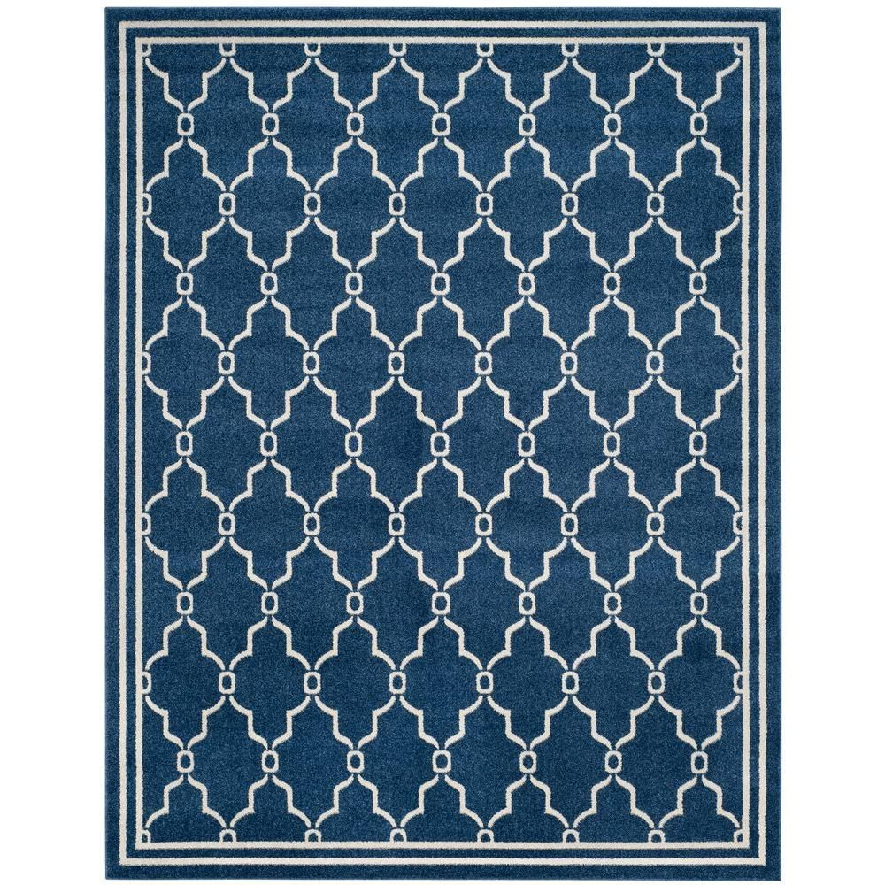 Amherst Navy/Beige (Blue/Beige) 8 ft. x 10 ft. Indoor/Outdoor Area Rug