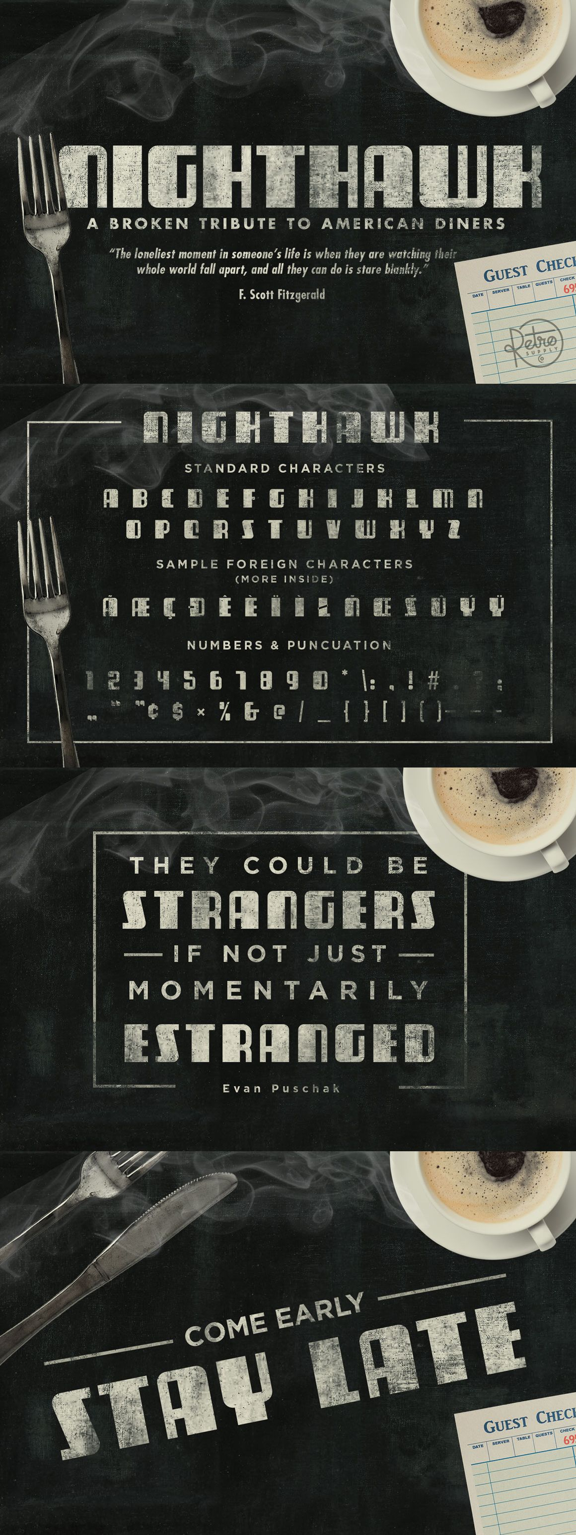 NightHawk Font American diner, Cool fonts, Lettering
