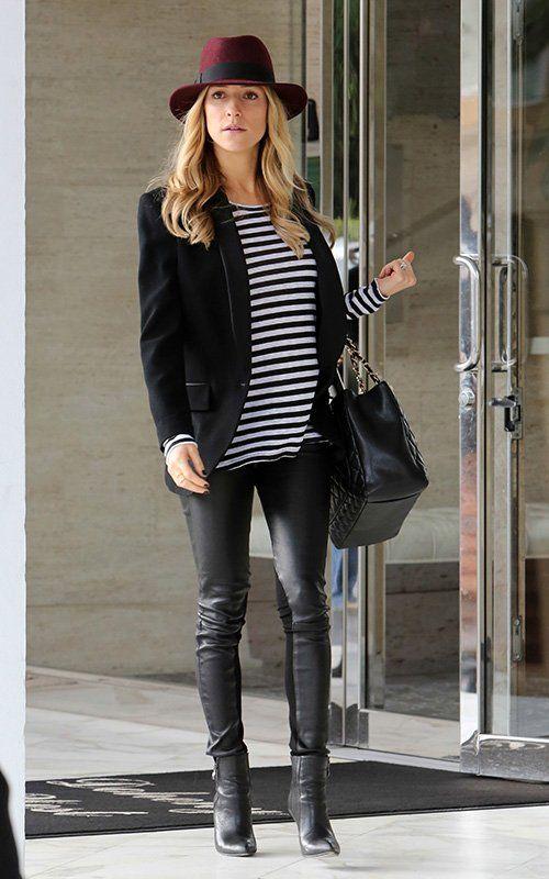 Kristin Cavallari wearing Chanel Caviar GST Shopping Bag in Black
