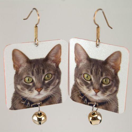Serious Business - cat earrings