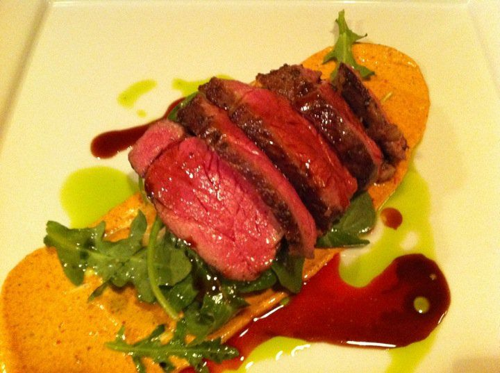 new special garlic cumin spiced lamb top round sous vide with