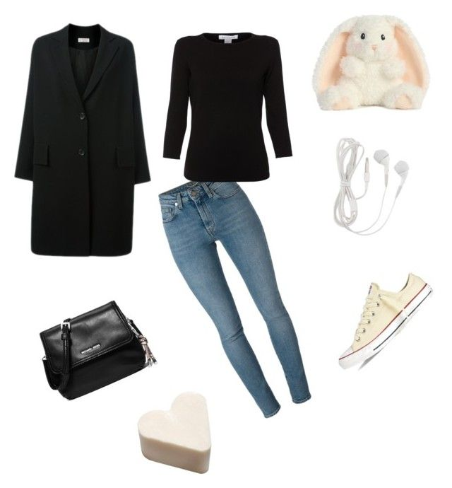 Converse comfy casual by riseandriseandrise on Polyvore featuring polyvore fashion style Belford Alberto Biani Yves Saint Laurent Converse MICHAEL Michael Kors clothing