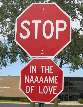 Image result for stop sign funny