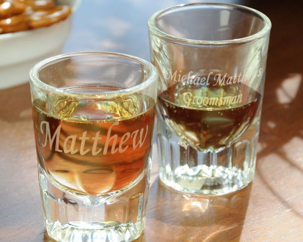 Personalized Fluted Shot Glasses (Set of 2)