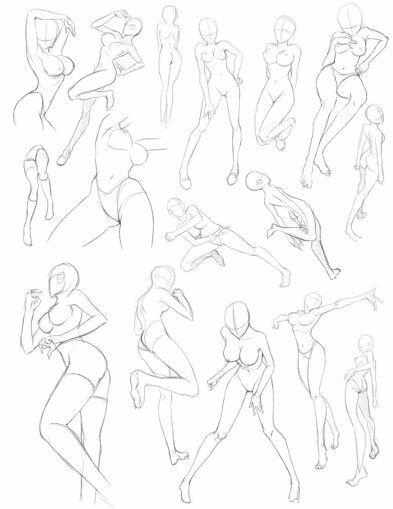 Female Pose Reference Art Reference Digital Art Tutorial Anime Poses Female