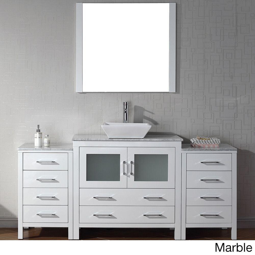 Beautiful Virtu USA Dior 68 Inch Single Sink Vanity Set In White (Dior 68