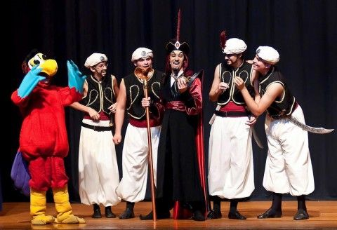 Jafar with Guards and Iago