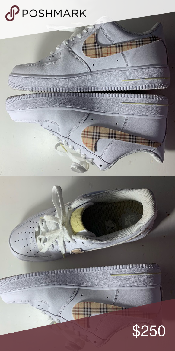Burberry air force 1's (With images) Nike air force ones